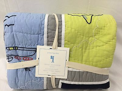 NEW Pottery Barn Kids Grant Helicopter TWIN Quilt