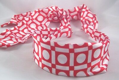 Wholesale Closeout Case of 300 Red & White Tieback Headbands