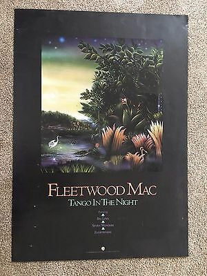 """Fleetwood Mac """" Tango in the Night""""  Record Store Promo Poster~  Vintage"""