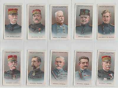 Wills Set: Allied Army Leaders 1917