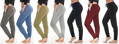 Coco Limon Women's Plain Jogger Two Pocket Sweatpants Also Plus Size (E-308)