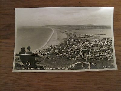 Vintage Postcard Rp The Chesil Beach Seen From Portland Valentines