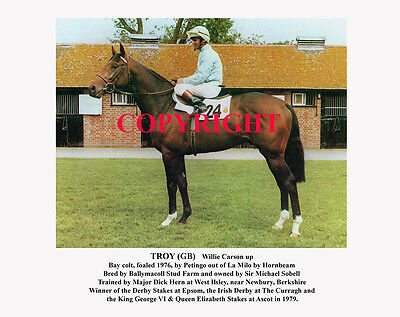 TROY & Willie Carson: 1979 Derby winners 10x8 print, ready for framing