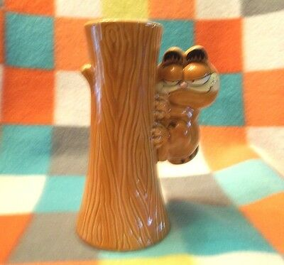 Garfield Cat Glass Vase E-5904 By Enesco Jim Davis
