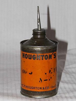 Vintage ORIGINAL 1865 E.F.H HOUGHTON & CO. HOUGHTON'S MOTOR OIL CAN