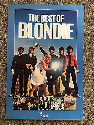 "RARE ~ The Best Of Blondie ~ Promotional Poster ~  33"" X 22"" ~ Original ~ 1981"