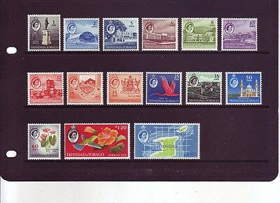 TRINIDAD & TOBAGO 1960-67 Definitive Set of 15 SG284-97 MNH CV £50