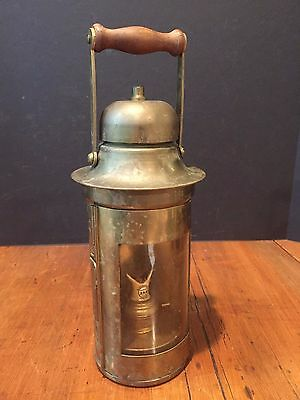 Antique Nautical Maritime Ship's Brass Binnacle Lamp Lantern Sherwoods Limited