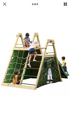 NEW Plum pyramid Wooden climbing frame with Slide BNWT