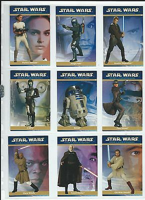New Zealand Promotional Star Wars Attack Of The Clones 18 Card Set 2002 Good+