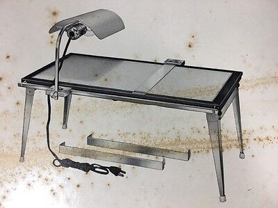 HEYER SUPERSCOPE Illuminated Drawing Tracing Light Table LOCKING T SQUARE + MORE