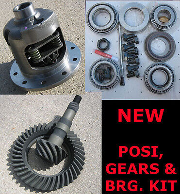 "GM Chevy 8.2"" 10-Bolt Rearend Eaton-Style Posi Gears Bearing Package - 3.73 NEW"