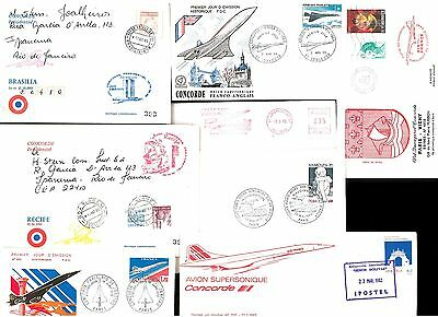 Eight Af Concorde Covers~ Mix Lot # 01