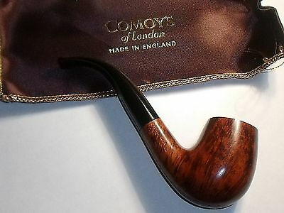 Comoy's of London briar Pipe Code 42. Not sure if ever used. Bag included.
