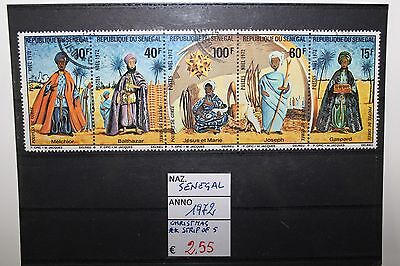 "Francobolli Stamps Senegal 1972 ""christmas"" Mnh** Strip Of 5 (Cat.5)"