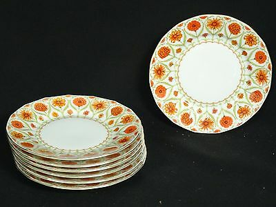 LOT of 7 pcs HUTSCHENREUTHER RUSTIC GARDEN BREAD & BUTTER PLATE ~ 6.25""