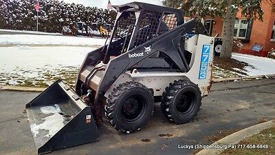 BOBCAT 7753 Skid Steer Loader 46HP Kubota Diesel Vertical Lift New Bucket 753