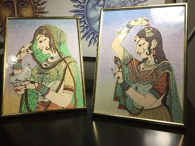 Beautiful Indian Pictures Made from GEM Stones