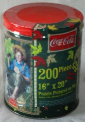 Factory Sealed Coca-Cola*Coke Norman Rockwell Puzzle*Collectible Tin*1998*200 Pc