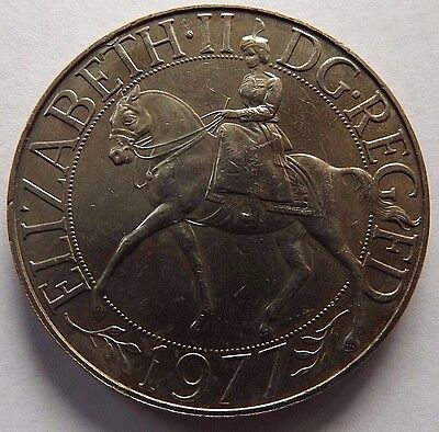 1977 Great Britain 25 New Pence! Au! 1 Year Type Coin! Reeded Edge!