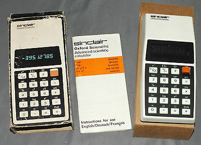 Sinclair Oxford Advanced Scientific Calculator - Boxed with Instructions 1976