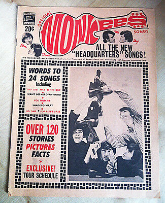 THE MONKEES OFFICIAL SONGBOOK No 4. Published in Fall 1967 PRINTED IN THE U.S.A.