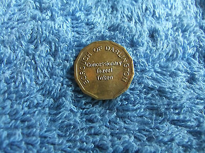 Vintage    Brass   ** Concessionary  Travel Token  **
