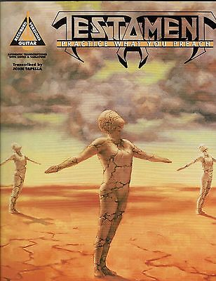 Testament Practice What You Preach Guitar Tab Tablature Song Book