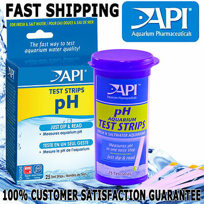 API Aquarium Fish Tank PH Test Strips Quick Aqua Testing Freshwater Saltwater 25