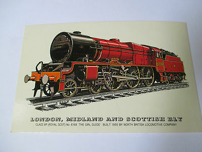 LONDON MIDLAND AND SCOTTISH RLY CLASS 6P ROYAL SCOT No 6168 GIRL GUIDE POSTCARD