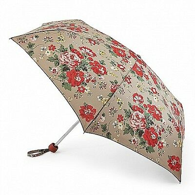 Cath Kidston Minilite Folding Umbrella - Winter Rose Oat