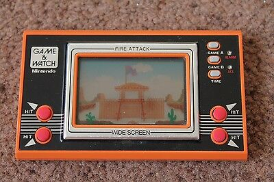 Nintendo Game & Watch Fire Attack Id-29 Very Good Working Condition