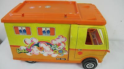Vintage Barbie Motor Home Camper Rv Orange 1971 Mattel