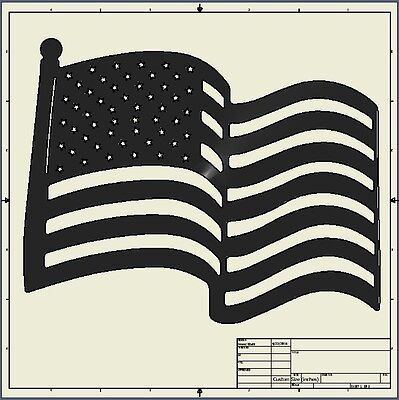 cnc dxf file ( usa_flag_15x12 )