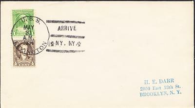 Aircraft Carrier USS LEXINGTON CV-2 Fleet Review 1934 New York City Naval Cover