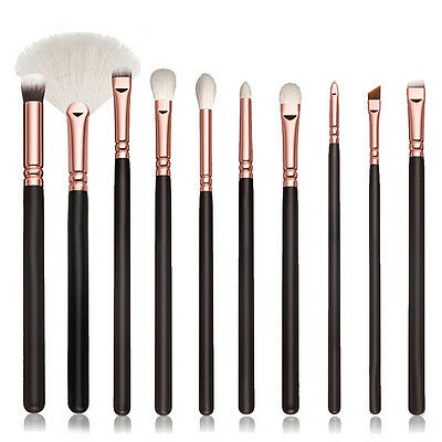 10Pcs Makeup Brushes Set Eyeshadow Blending brush Powder Foundation Cosmetic Kit