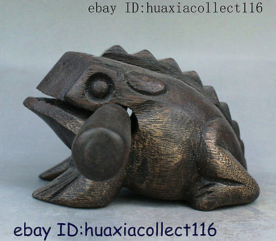 Chinese Collect Wood Temple Wooden Fish Woodblock Wooden Knocker Muyu Statue