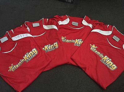 Bulk Lot X 4! Mens Soccer Jerseys All Xl All Red Great Bargain!!perfect For Team