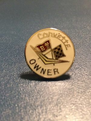 CORVETTE  OWNER  - Hat pin , lapel pin , tie tac , hatpin (white)