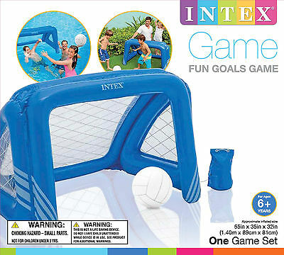 Intex Swimming Pool Fun Goals Floating Sport Game Water Polo & Soccer