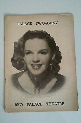 Dec. 1951 Theatre Playbill - Palace Two-A-Day, Rko Palace Theatre, Judy Garland