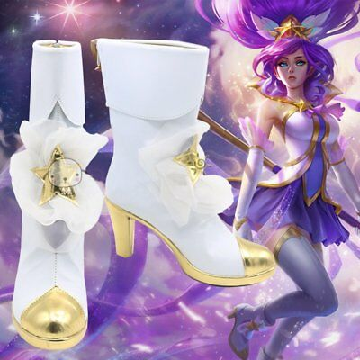 LOL/League of Legends Star Guardian Janna shoes Women cosplay Cometume Boots