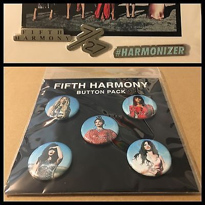 Fifth Harmony Exclusive 7/27 Button Packs - Includes Harmonizer and US Tour Pins