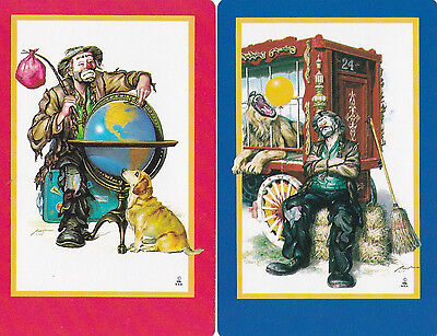 Collector Card;Vintage.. SWAP/PLAYING Card Pair (Clowns)