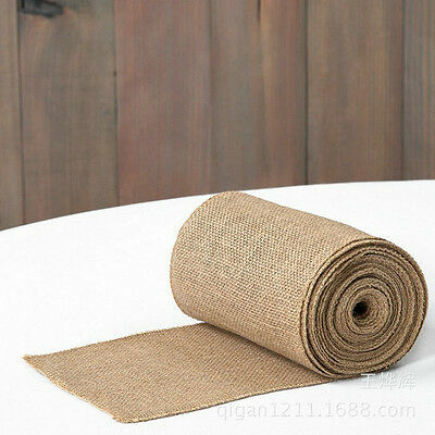 3m*30cm Rustic Natural Vintage Burlap Hessian Table Runner High Quality