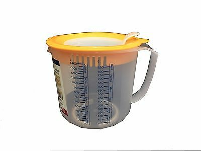 Leifheit 3 in 1 Mixing Jug Measure & Store Plastic Kitchen