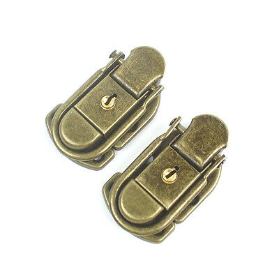 2x Drawbolt Closure Latch for Guitar or musical cases luggage with lock ,Bronze