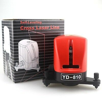 A8810 635nm 2 Cross Red Line Laser Level 360 degree Self-leveling YD-810