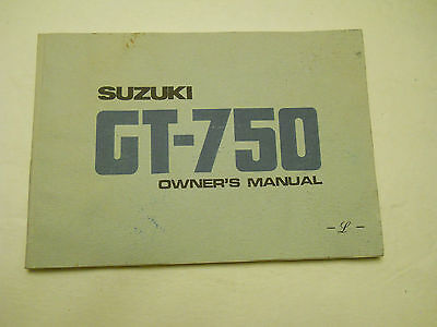 Gt750 Suzuki Owners Manual
