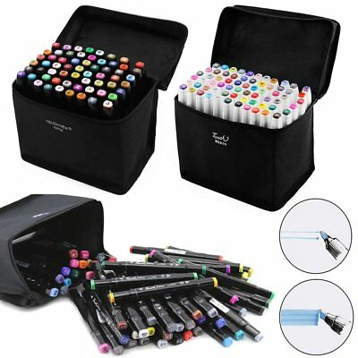 60 Colors Touch Twin Animation Marker Pen Graphic Art Sketch Painting+Glove Gift